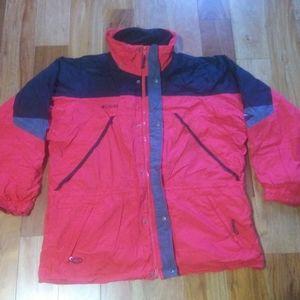 Columbia 2 in 1 Winter Jacket Coat Men Size XL Red